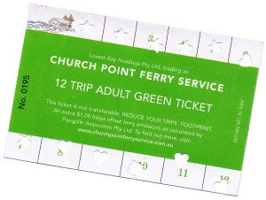 Church Point Ferry Service, Pittwater: Green Ticket