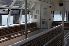 Inside the spacious L. Duck ferry