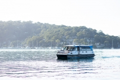 The L. Duck on the move in Pittwater
