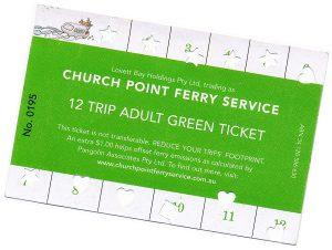 Church Point Ferry Service, Pittwater: Green Ticket